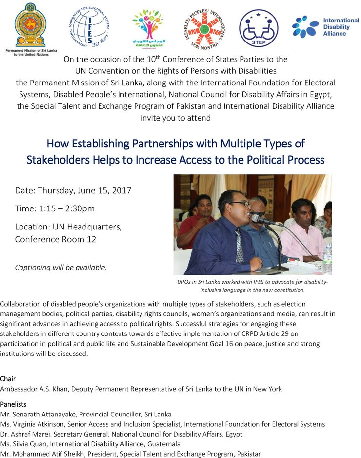 How Establishing Partnerships with Multiple Types of Stakeholders Helps to Increase Access to the Political Process