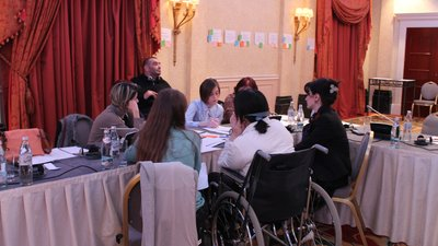 Participants write recommendations for a CRPD shadow report