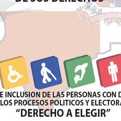 Four logos (blue, green, yellow and red) show symbols for different disabilities