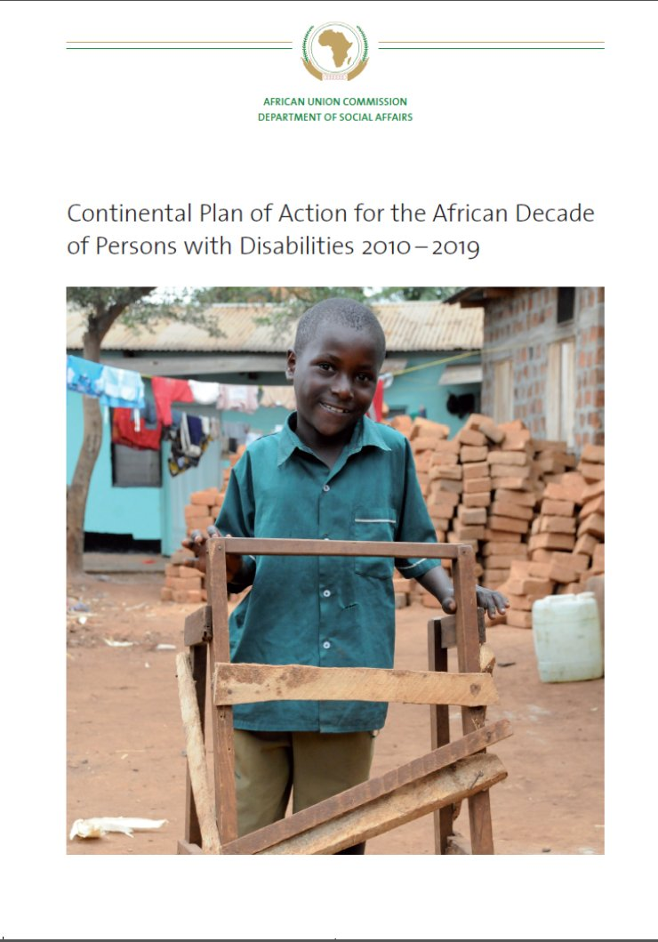 Cover of the Continental Plan of Action for the African Decade of Persons with Disabilities