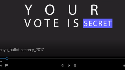 Black screen with the text: Your vote is secret