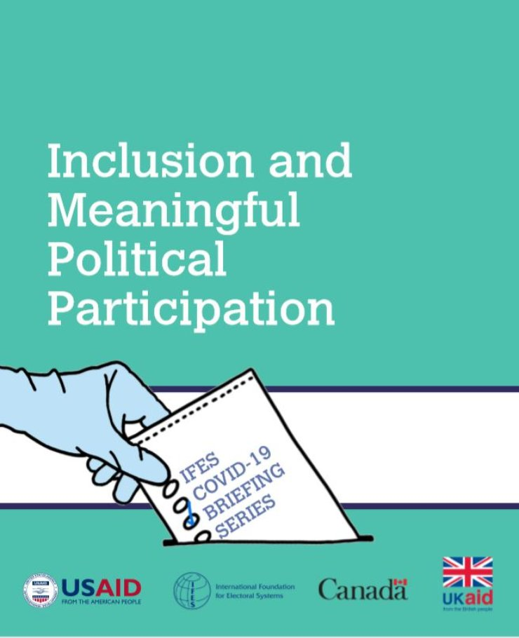 COVID-19 Briefing Series: Inclusion and Meaningful Political Participation cover