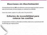 Elecciones sin discriminación