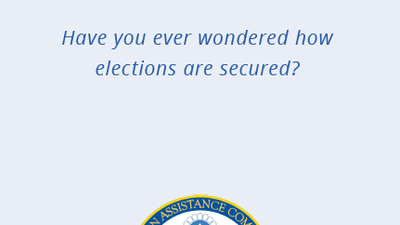 Election security pamphlet cover