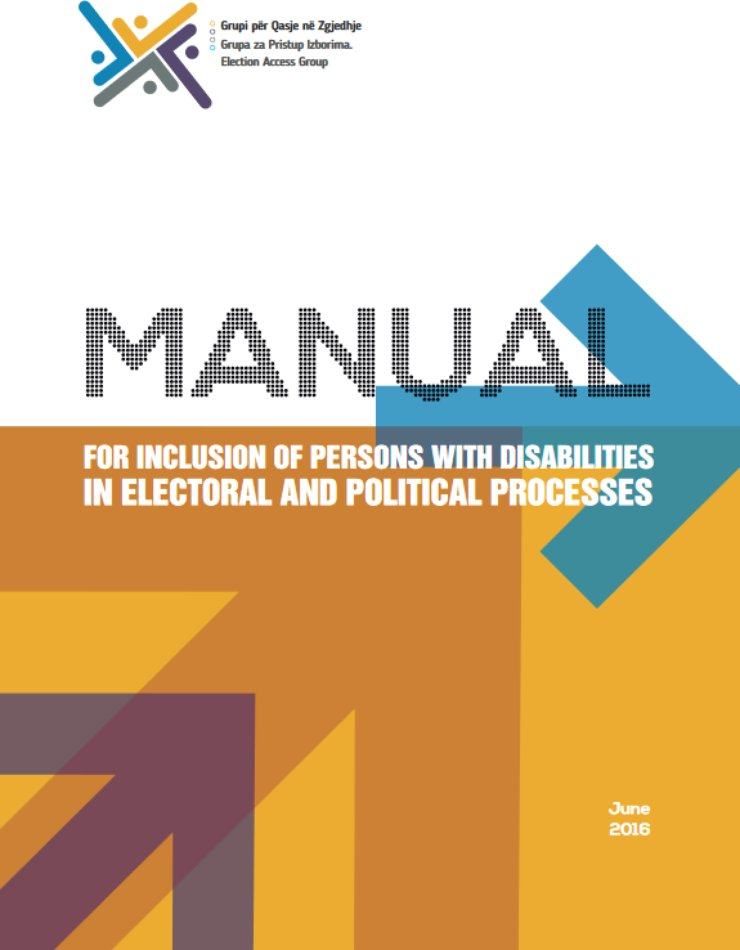 Cover of the manual has geometric figures