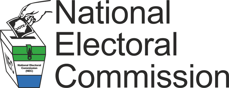 National Electoral Commission of Sierra Leone with logo