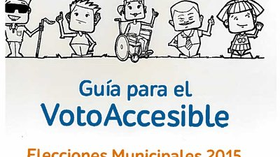 Cartoons characters with a various disabilities wave
