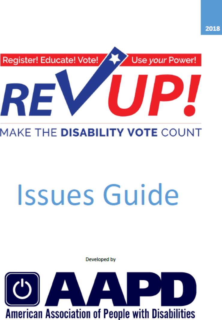 Publication cover: REV UP Make the disability vote count