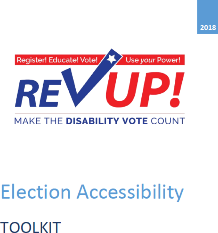 Publication cover: REV UP Election Accessibility Toolkit