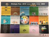 A poster of the Union Election Commission's Strategic Plan 2019-2022 which includes its vision, mission, guiding principles and 11 pillars.