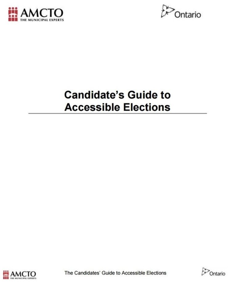 Candidate's Guide to Accessible Elections