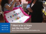 Barriers for Political Participation for People with Disabilities in Peru