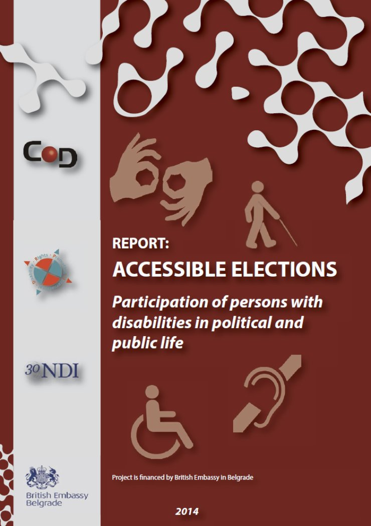 Dark red cover shows title and icons for hearing, physical and visual disabilities