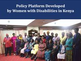 Policy Platform Developed by Women with Disabilities in Kenya
