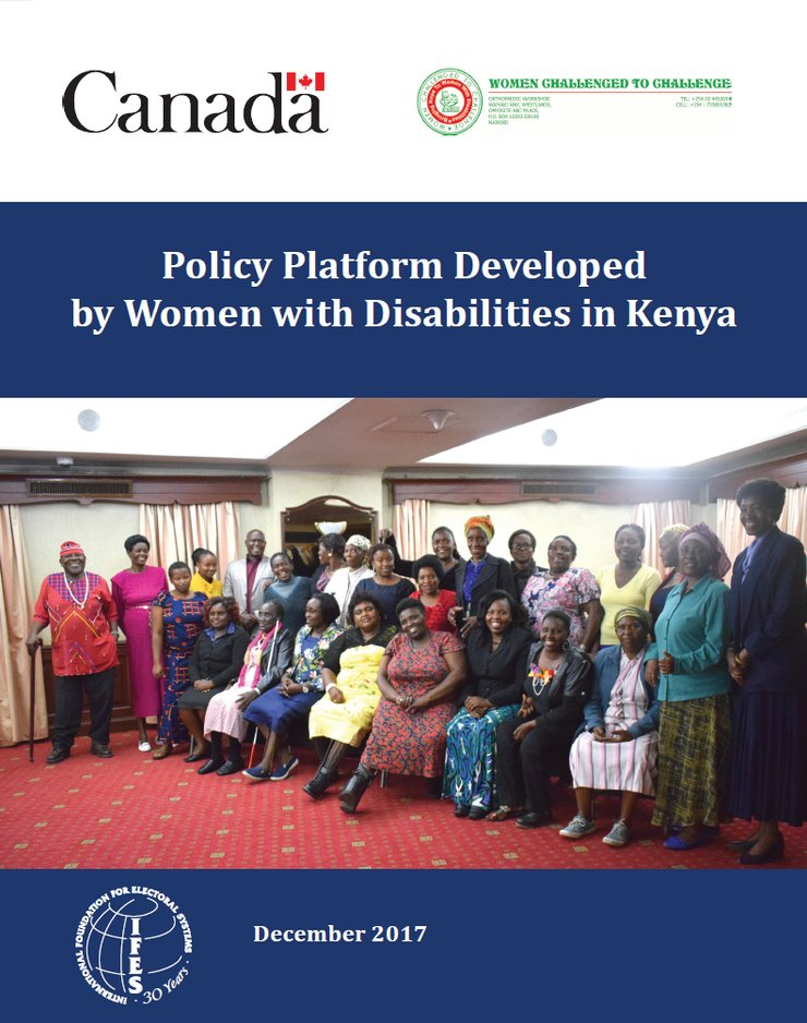 Cover of the policy platform
