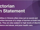 Women with Disabilities Statement for Victoria Elections