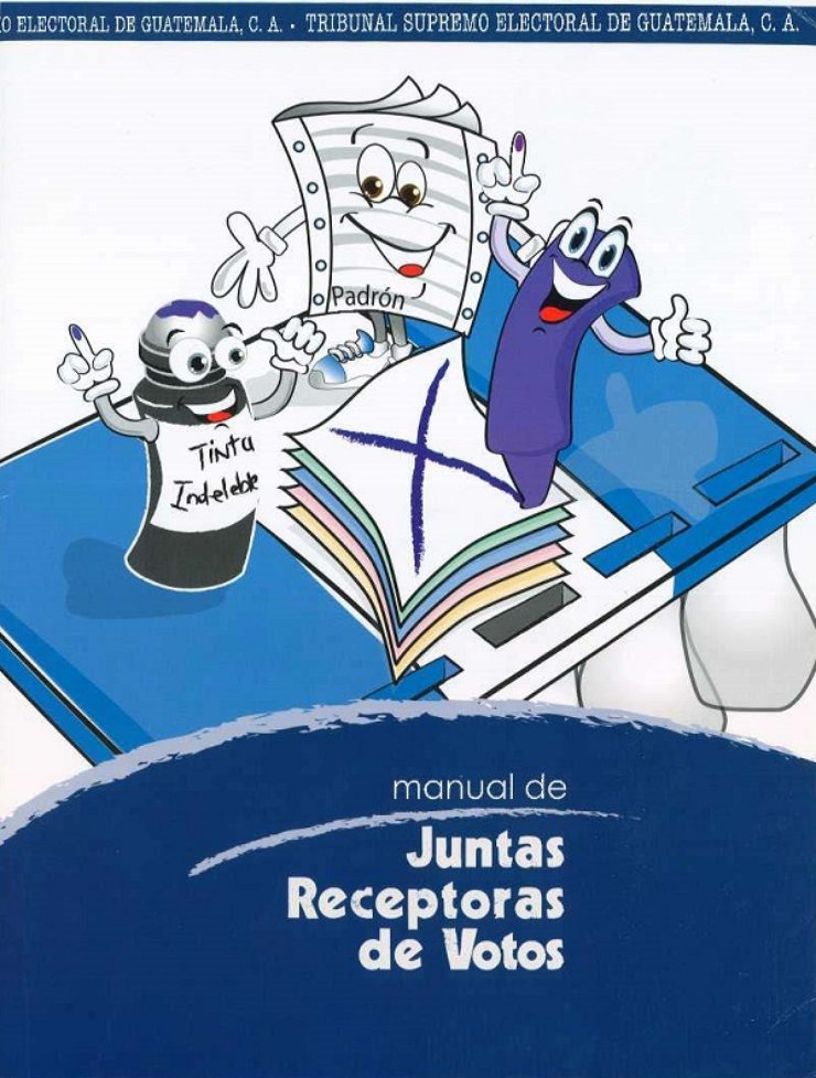 There are three cartoon characters on the front: An animated ballot, an animated purple pen with ink on its index finger, and a marker with ink on its index finger.