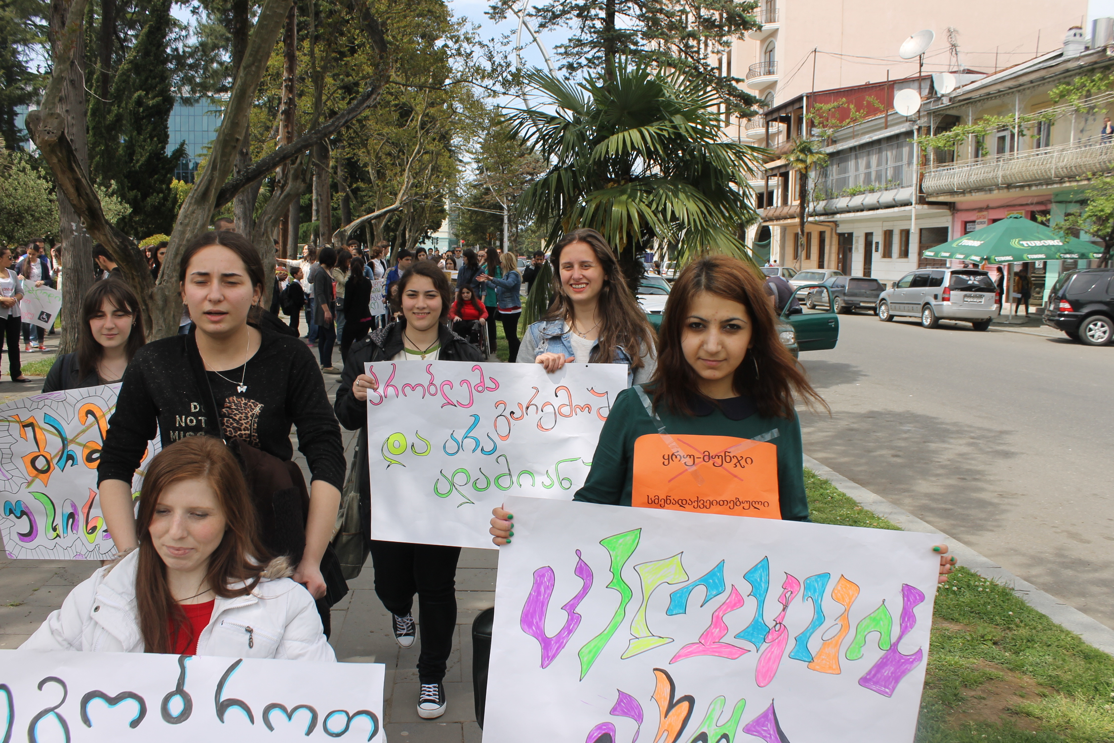 Youth with disabilities lead a march for change in Batumi, Georgia